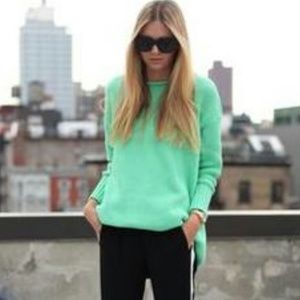 Sweaters - New Mint Green Knit Crew Neck Sweater Medium